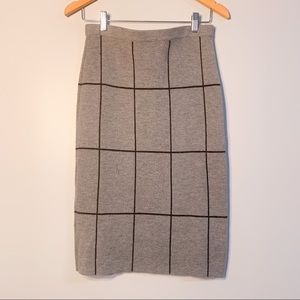 Banana Republic Grid Sweater Pencil Skirt